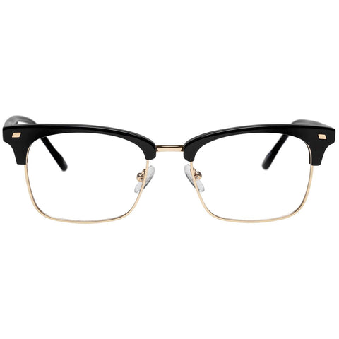 Le Specs - Jiver 51mm Black Gold Eyeglasses / Demo Lenses