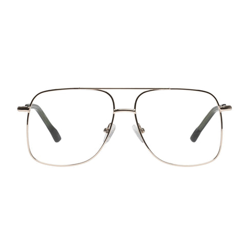 Le Specs - Equilateral 54mm Gold Eyeglasses / Demo Lenses