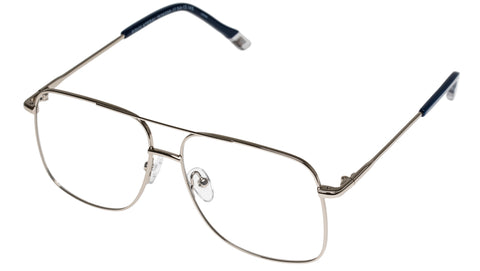 Le Specs - Equilateral Silver Eyeglasses / Demo Lenses