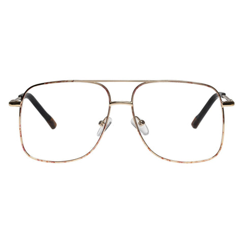 Le Specs - Equilateral 54mm Bright Gold Tort Eyeglasses / Demo Lenses