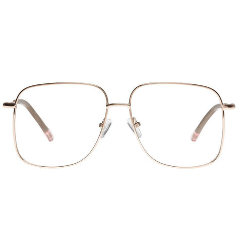 Le Specs - Equilibrium 56mm Rose Gold Eyeglasses / Demo Lenses