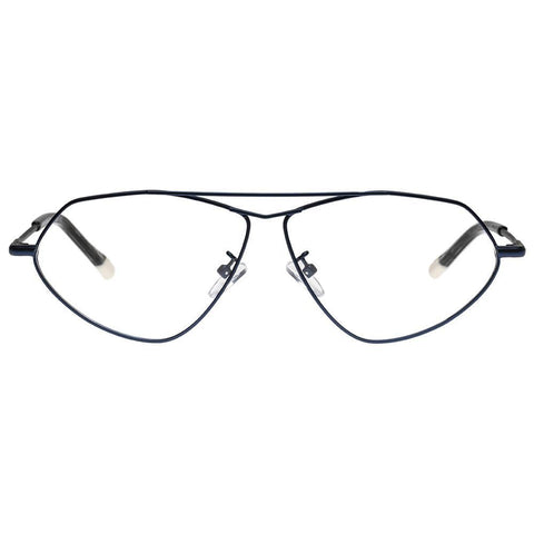 Le Specs - Psyche 59mm Matte Navy Eyeglasses / Demo Lenses