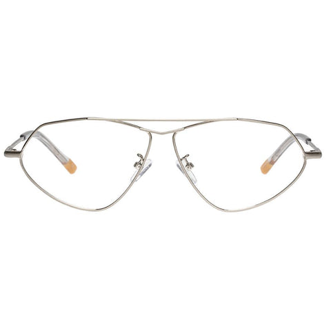 Le Specs - Psyche 59mm Brushed Silver Eyeglasses / Demo Lenses