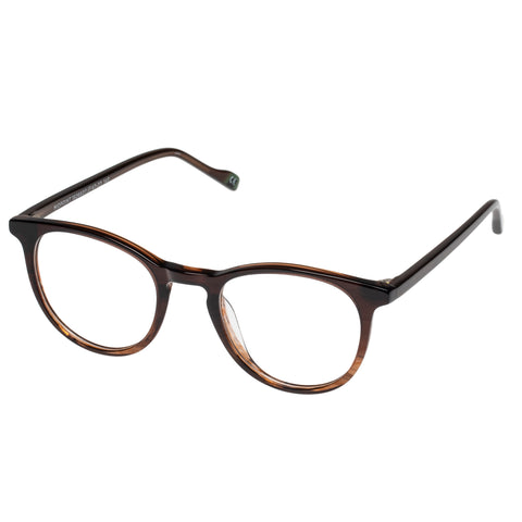 Le Specs - Midpoint Treacle Bark Fade Eyeglasses / Demo Lenses