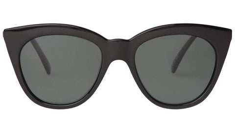 Le Specs - Halfmoon Magic Black Sunglasses / Khaki Mono Polarized Lenses