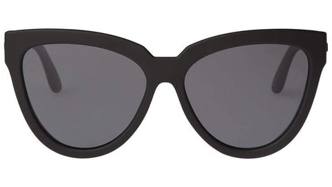 Le Specs - Liar Lair Black Rubber Sunglasses / Smoke Mono Polarized Lenses