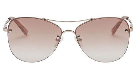 Le Specs - Fortifeyed Gold Sunglasses / Gradient Gold Revo Mirror Lenses