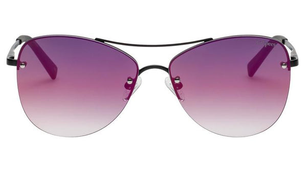 Le Specs - Fortifeyed Matte Black Sunglasses / Ice Fire Revo Mirror Lenses