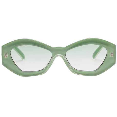 Le Specs - The Ginchiest 53mm Ripple Green Sunglasses / Jade Gradient Lenses