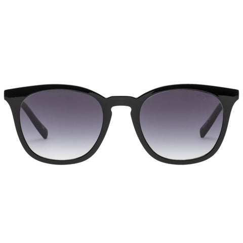 Le Specs - Fine Specimen 51mm Black Sunglasses / Smoke Gradient Lenses