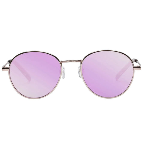Le Specs - Zephyr 52mm Deux Rose Gold Sunglasses / Peach Revo Mirror Lenses