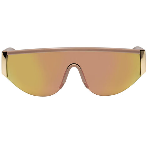 Le Specs - Viper Blush Gold Sunglasses / Brass Mirror Lenses