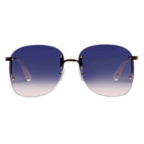 Le Specs - Skyline 59mm Bright Gold Sunglasses / Blue Gradient Lenses