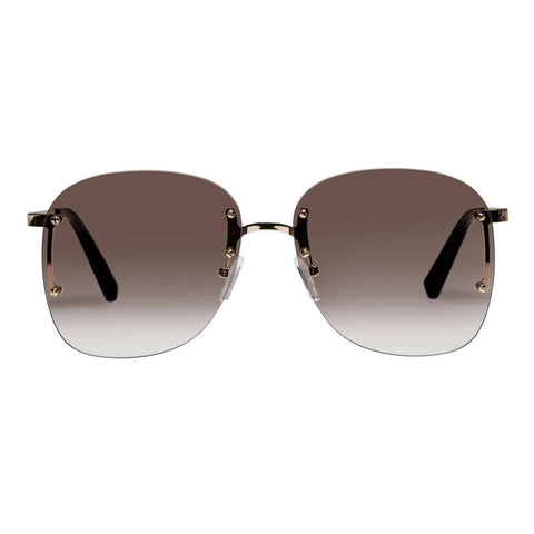 Le Specs - Skyline 59mm Gold Sunglasses / Brown Gradient Lenses