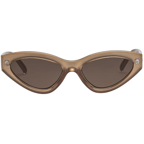 Le Specs - Synthcat R 53mm Gold Shimmer Sunglasses / Brown Mono Lenses