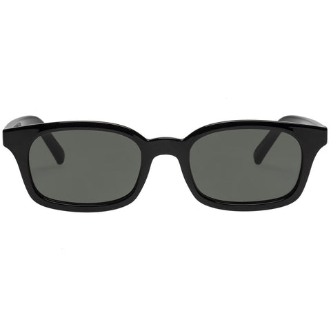 Le Specs - Carmito 51mm Black Sunglasses / Green Mono Lenses