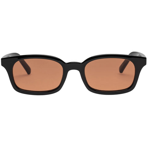 Le Specs - Carmito 51mm Black Sunglasses / Cinnamon Tint Lenses