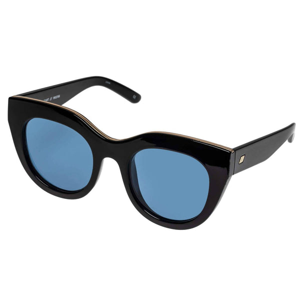 Le Specs - Air Heart Black Sunglasses / Navy Mono Lenses