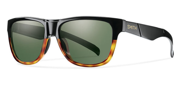 Smith - Lowdown Slim Black Fade Tortoise Sunglasses, Gray Green Lenses