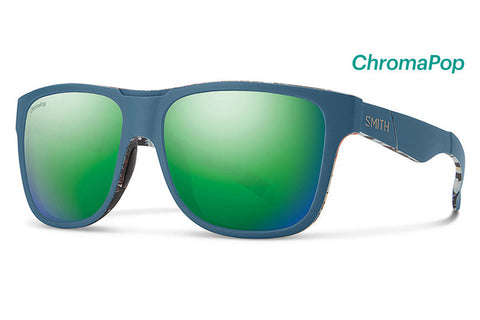 Smith - Lowdown XL Matte Corsair Ripped Sunglasses, ChromaPop Sun Green Mirror Lenses