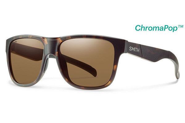 Smith - Lowdown XL Matte Tortoise Sunglasses, ChromaPop Polarized Brown Lenses