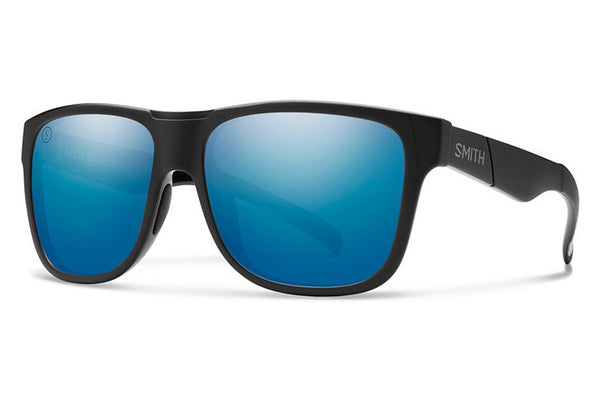 Smith - Lowdown XL Matte Black - Salty Crew Sunglasses, ChromaPop Polarized Blue Mirror Lenses