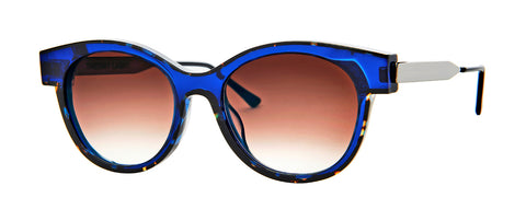 Thierry Lasry - Lytchy Dark Tortoise Blue Sunglasses / Brown Gradient Lenses