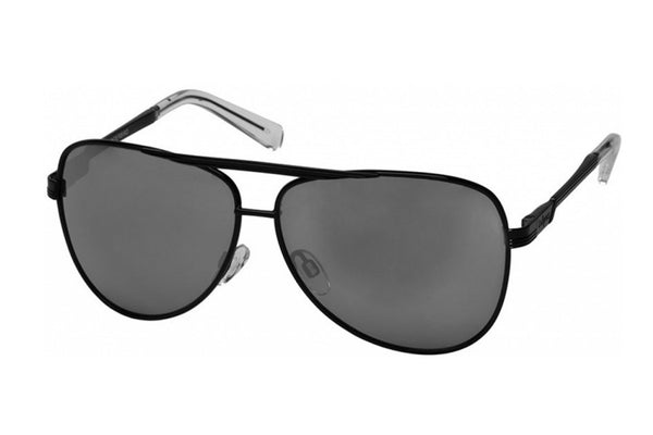 Le Specs Thunderbird Black/Silver Mirror Sunglasses