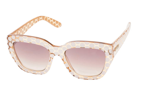 Le Specs Hermosa Crystal Blonde & White Spot Sunglasses