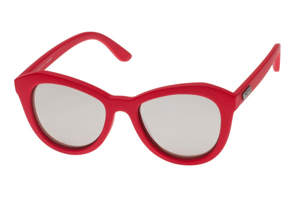 Le Specs Peach Pit Red Hot Rubber Sunglasses