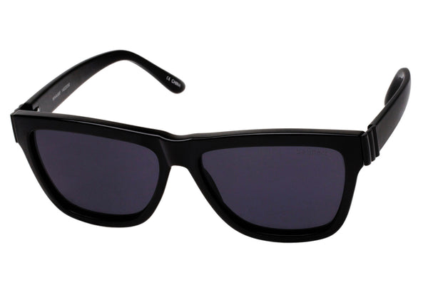Le Specs Whaam! Black & Satin Black Metal Sunglasses