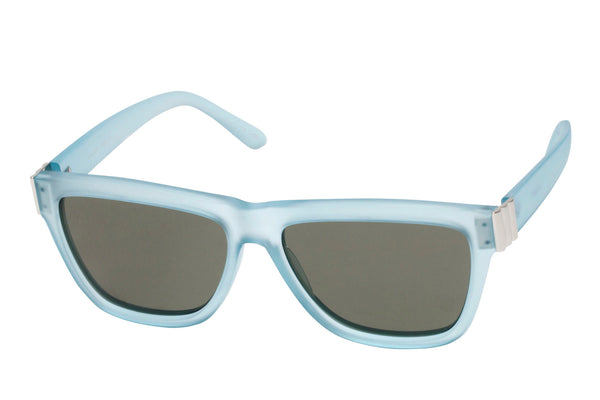 Le Specs Whaam! Crystal Mirage Blue Rubber & Silver Sunglasses