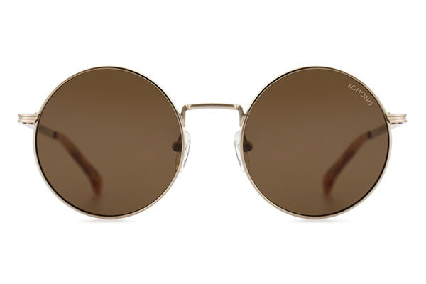 Komono - The Lennon White Gold Sunglasses
