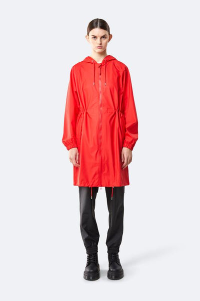 Rains - Women's 1278 Red Long Jacket