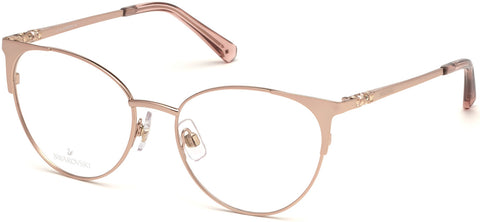 Swarovski - SK5286 Shiny Rose Gold Eyeglasses / Demo Lenses