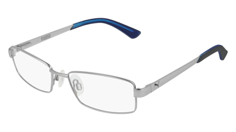Puma - PJ0012O Junior Silver Eyeglasses / Demo Lenses
