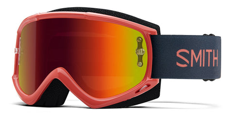 Smith - Fuel V1 Red Rock MX Goggles / Red Mirror Lenses