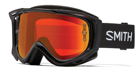 Smith - Fuel V2 Black MX Goggles / Red Mirror Lenses