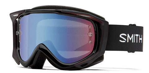Smith - Fuel V2 Black MX Goggles / Blue Sensor Mirror Lenses