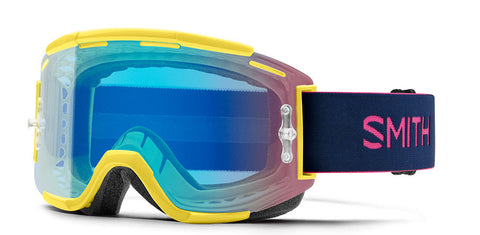 Smith - Squad MTB Citron Indigo MX Goggles / Chromapop Contrast Rose Flash Lenses