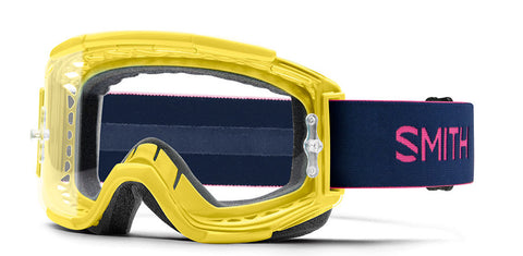 Smith - Squad MTB Citron Indigo MX Goggles / Clear Anti Fog Lenses