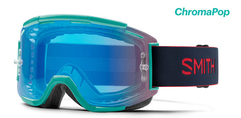 Smith - Squad MTB Jade Rise MX Goggles / Chromapop Contrast Rose Flash Lenses