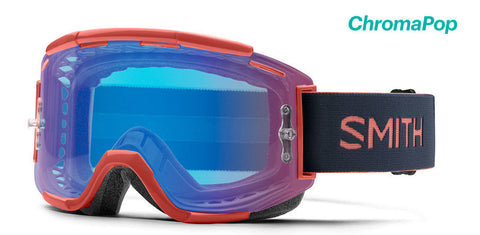 Smith - Squad MTB Red Rock MX Goggles / Chromapop Contrast Rose Flash Lenses