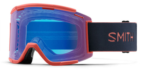 Smith - Squad XL MTB Red Rock MX Goggles / Chromapop Contrast Rose Flash Lenses