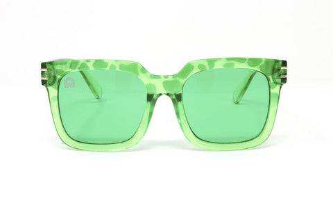 RainbowOPTX - Unit Leopard Sunglasses / Green Lenses