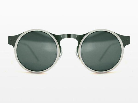 Spitfire Machina Black & Silver Sunglasses, Black Lenses