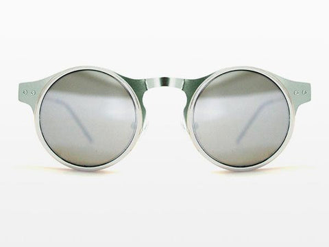 Spitfire - Machina Silver Sunglasses, Silver Mirror Lenses
