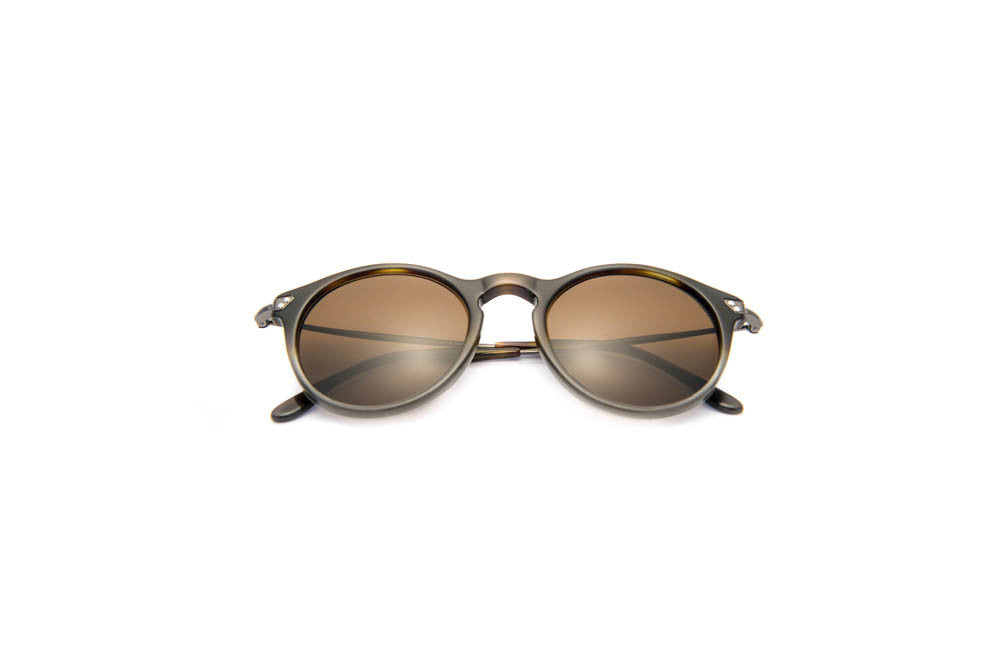 Kyme - Mark Brown Gradient Grey Sunglasses