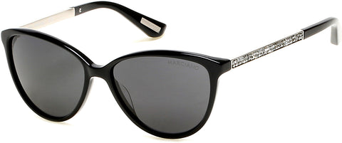 Marciano - GM0755 Shiny Black Sunglasses / Smoke Lenses