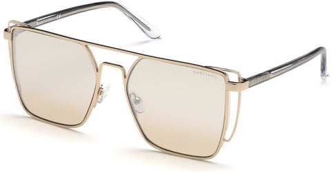 Marciano - GM0789 Gold Sunglasses / Gradient Brown Lenses